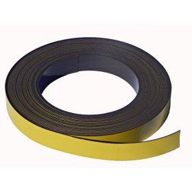 Bande magnétique jaune 20mm x 1mm x 1 mètre