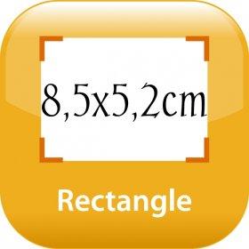 magnet frigo 8,5x5,2cm angles droits