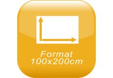 format 100x200cm