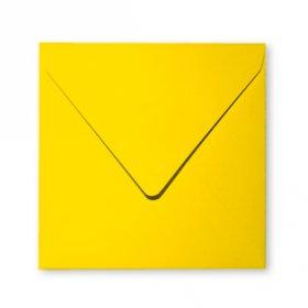 20 enveloppes 14x14cm jaune soleil