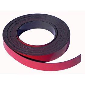 Bande magnétique rouge 30mm x 1mm x 5 mètres