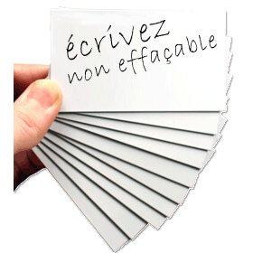 Etichetta bianca magnetica