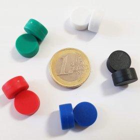 Juego de 10 imanes impermeables surtidos de Ø12.7mm.
