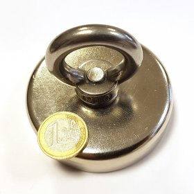 Magnet for fishing Ø75mm with eyelet