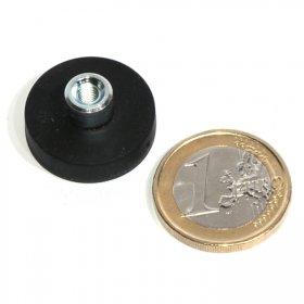Magneti al neodimio antisdrucciolo con buco 22mm