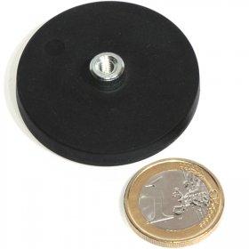 Magneti al neodimio antisdrucciolo con buco 43mm