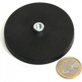Magneti al neodimio antisdrucciolo con buco 66mm