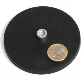 Magneti al neodimio antisdrucciolo con buco Ø88mm