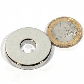 Neodymium magnetic discs Øout1,18 x Øin0,39 x 0,2 in