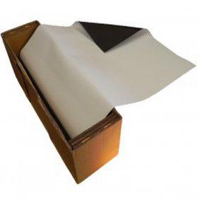 White PVC magnetic tape  610 mm x 15 mètres thickness 1mm