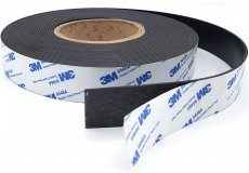 Adhesive magnetic tape 1,18in x 0,08in x 10,94Yds
