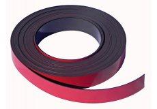 Banda magnética rojo 30mm x 1mm x 5 metros