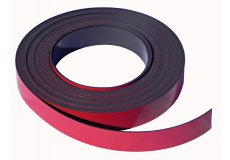 Bande magnétique rouge 20mm x 1mm x 5 mètres