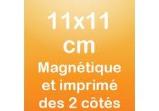 dos caras magnet 11x11cm