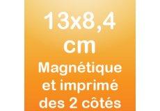 dos caras magnet 13x8,4cm