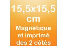 dos caras magnet 15,5x15,5cm
