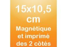 dos caras magnet 15x10,5cm