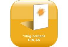 Flyers 135g brillant Din A4 (21x29,7cm)