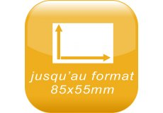 format 8,6x5,2cm ou 5,5x5,5cm