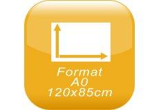 format A0 120x85cm