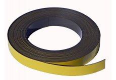 Gelbe Magnetband selbstklebend 30mm x 1mm x 5 m