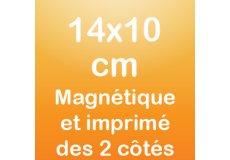 Magnet recto verso 14x10cm