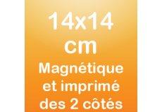 Magnet recto verso 14x14cm