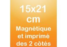 Magnet recto verso 15x21cm