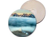 Magnet rigide badge diamètre 7,5cm épaisseur 3mm