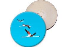 magnet rigide badge rond diamètre 5,6cm épaisseur 3mm