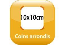 magnet thermomètre 10x10cm coins arrondis