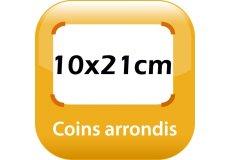 magnet thermomètre 10x21cm coins arrondis