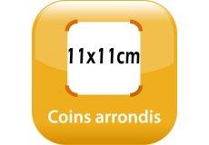 magnet thermomètre 11x11cm coins arrondis