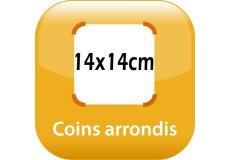 magnet thermomètre 14x14cm coins arrondis