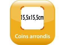 magnet thermomètre 15,5x15,5cm coins arrondis