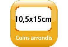 magnet thermomètre 15x10,5cm coins arrondis