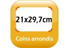 magnet thermomètre 21x29,7cm coins arrondis