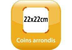 magnet thermomètre 22x22cm coins arrondis