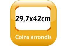 magnet thermomètre 29,7x42cm coins arrondis