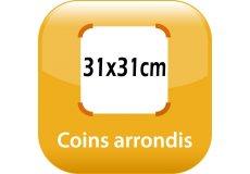 magnet thermomètre 31x31cm coins arrondis