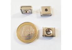 magnete al neodimio rettangolare con foro di fissaggio 10 x 13,5 mm
