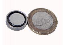 Magneti neodimi con base in acciaio Ø16X4.5mm