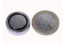 Magneti neodimi con base in acciaio Ø20X6mm