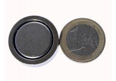 Magneti neodimi con base in acciaio Ø25X7mm
