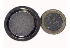 Magneti neodimi con base in acciaio Ø32X7mm