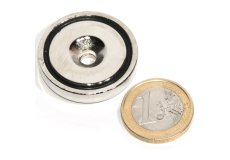 Magneti neodimi per fissaggio con base in acciaio 32mmXØ5.5