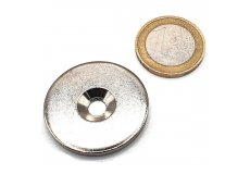 Metal disc with bevelled hole Ø32mm