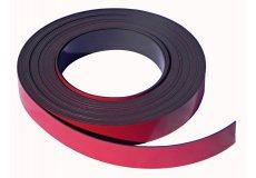 Roten Magnetband selbstklebend 20mm x 1mm x 5 mètres