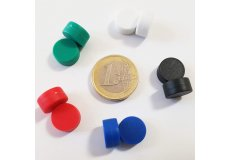 set of 10 waterproof magnets assorted Ø12.7mm