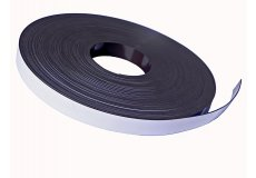 White pvc magnetic tape  0,79in X 0,08in X 54,7yds